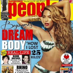 Beyoncé on the cover of People Magazine South Africa 3 May 2013