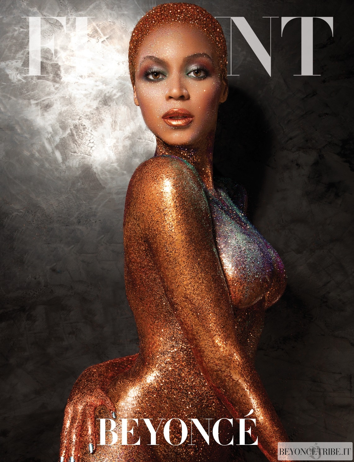 Beyoncé on photoshoot by Tony Duran for Flaunt magazine 2013