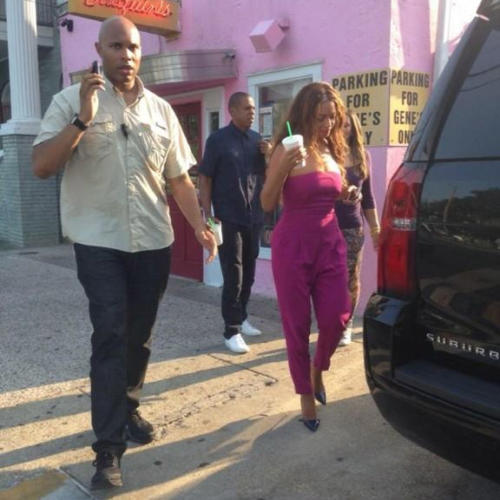 2Beyoncé, Jay Z, Blue Ivy and the Knowles family spotted in New Orleans - 21 July 2014